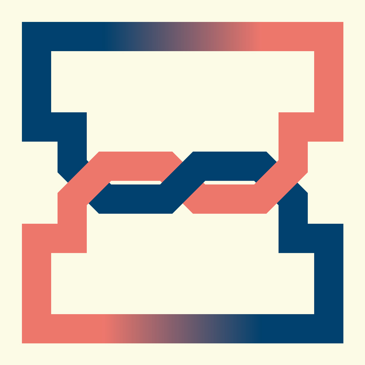 Illustration of the letter I as an infinite loop