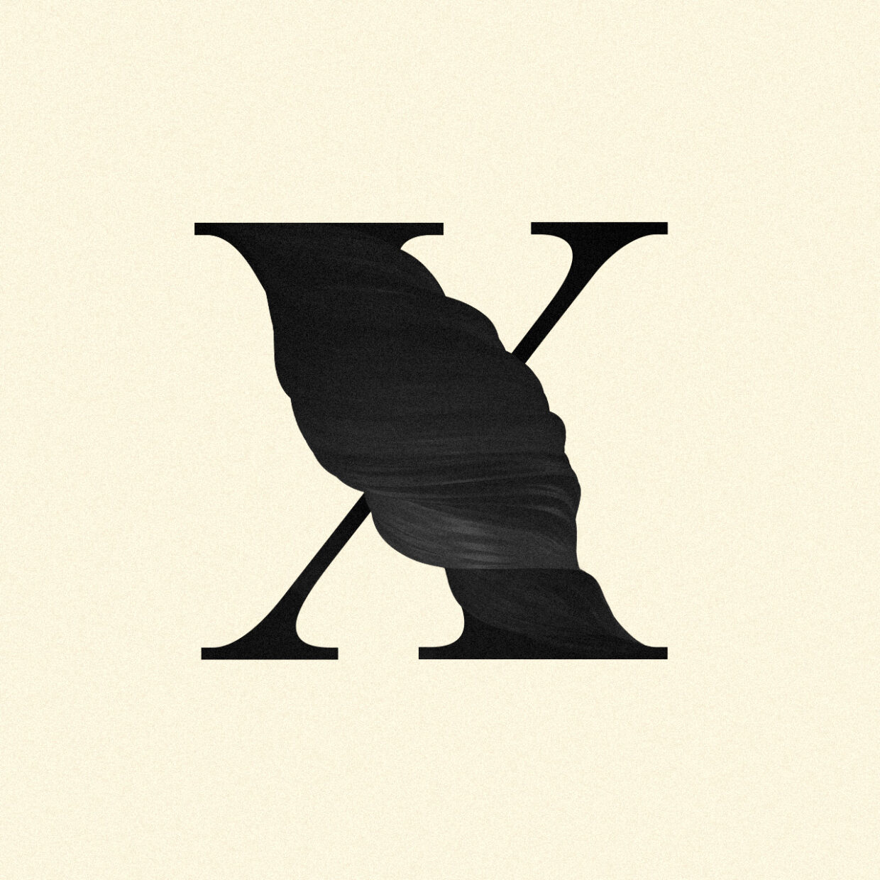 Illustration of an abstract X letter