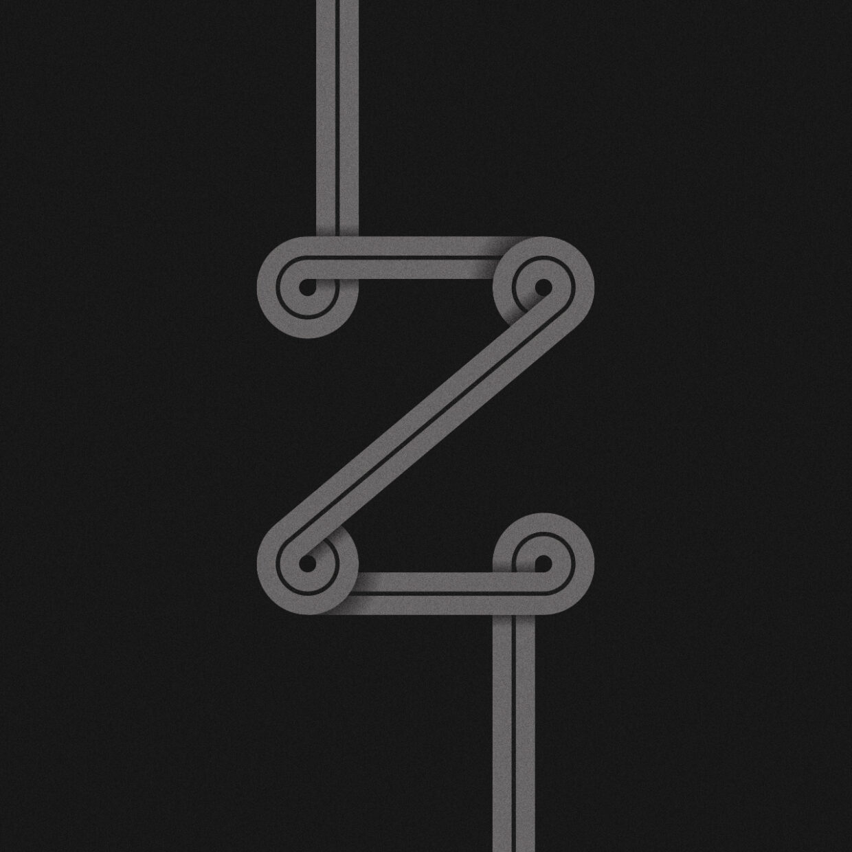 Illustration of an abstract Z letter