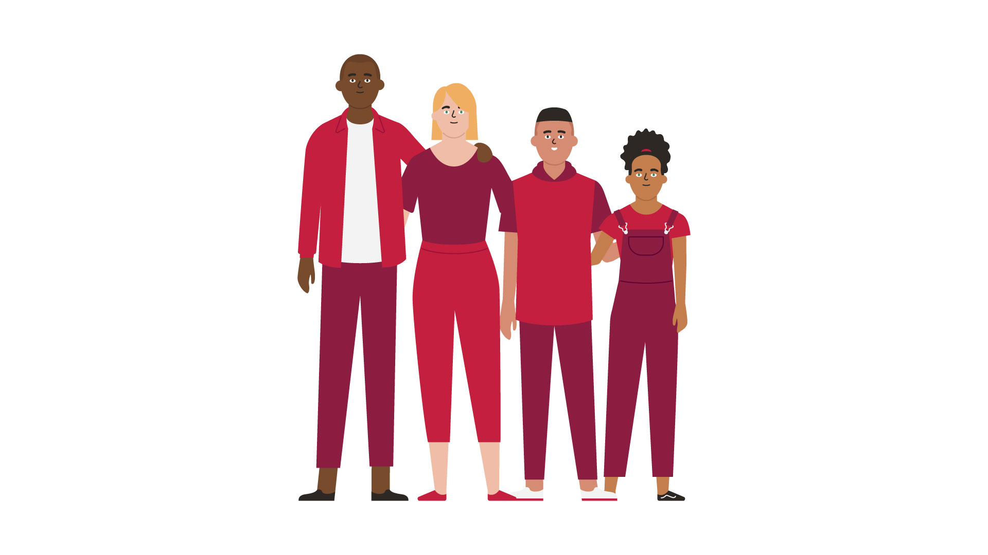 Vector illustration of a family for the CIBC communications