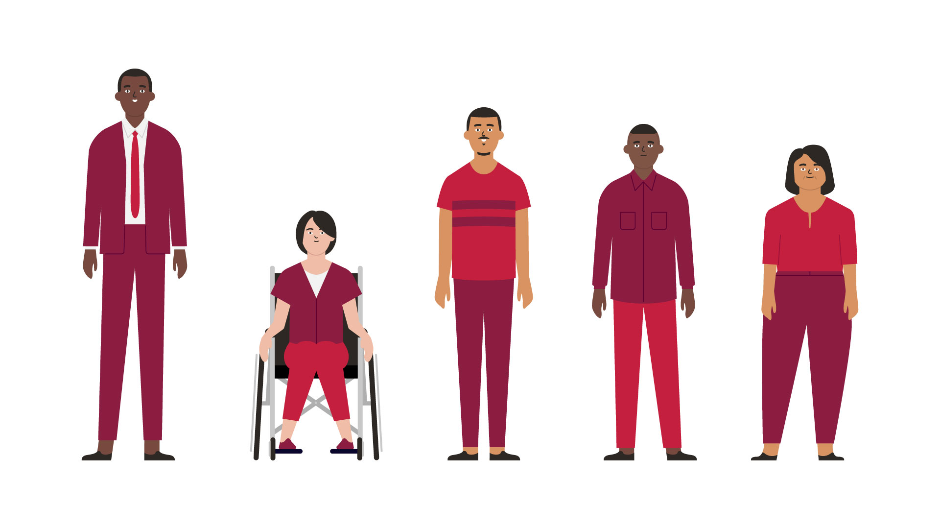 Vector illustration of different characters for the CIBC communications