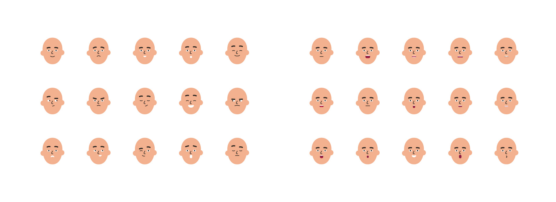 Vector illustration of facial expressions for the CIBC communications
